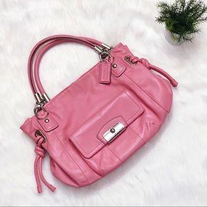 COACH Kristin EW Rose Pink Leather Tote Shopper